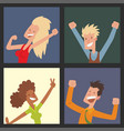people jumping in celebration party happy vector image vector image
