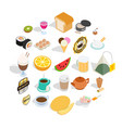 quencher icons set isometric style vector image vector image