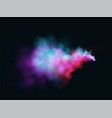 realistic colored blue purple and pink smoke on a vector image vector image