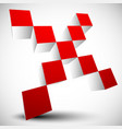 red cross sign x letter x shape vector image