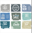 sale retro grunge banner collection 2 vector image