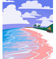 sea landscape of tropical beach vector image