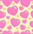 seamless background with hearts 2 vector image