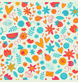 seamless doodle love pattern vector image vector image