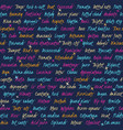 seamless pattern with text about music vector image vector image