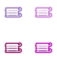 Set of paper stickers on white background children vector image vector image