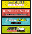 Set of special sale offer labels and banners vector image