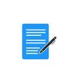 simple business of portfolio icon design template vector image