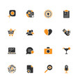 simple ui icons for app sites programs vector image vector image