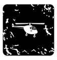Small helicopter icon grunge style vector image vector image
