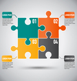 square puzzle piece infographics template vector image