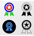 star award eps icon with contour version vector image