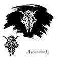 Stylized decorative goat mask Tattoo silhouette vector image