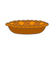 tasty pie decoration dough weaving realistic icon vector image