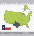 texas flag and map vector image vector image