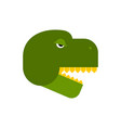 tyrannosaurus face angry dinosaur head t-rex front vector image vector image