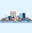 urban landscape modern cartoon cityscape with vector image