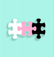 Wedding invitation with puzzle pieces vector image vector image