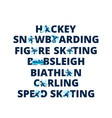 winter sports name of sport in flat style vector image vector image