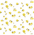 yellow florals seamless pattern vector image