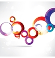 Abstract circles colored design vector image