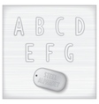 Metallic latin alphabet vector image