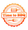time to bbq colorful label design vector image