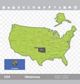 oklahoma flag and map vector image