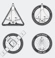 Rocket emblems vector image