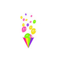 air balloons isolated color composition of vector image