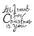 All I Want for Christmas is You vector image vector image