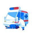 ambulance medical staff service occupation medic vector image vector image