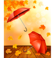 autumn background with leaves and orange