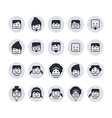 avatar portrait user icon set vector image vector image
