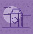 bottle milk box icon vector image vector image