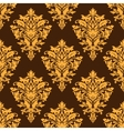 Brown damask seamless pattern vector image vector image