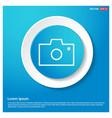 camera icon abstract blue web sticker button vector image