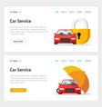 car insurance or automobile protection service vector image