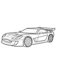 car sketch coloring book isolated object on white vector image vector image