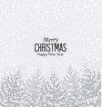 christmas snowy forest vector image vector image