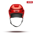 Classic red Hockey Helmet isolated on Background vector image vector image