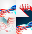 collection of 4th july american independence day vector image vector image