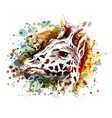 color of a giraffe head vector image