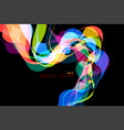 colorful shaped scene vector image vector image