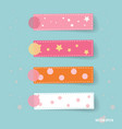 Cute note papers vector image vector image