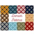 Damask ornamental decoration patterns vector image vector image
