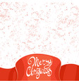 design inscription happy christmas vector image vector image