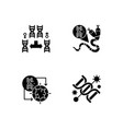dna manipulation black glyph icons set on white vector image