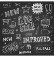 Doodle Frames and design elements on chalk board vector image vector image