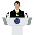 EU flag speaker vector image vector image